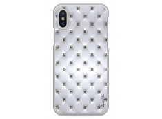 Coque iPhone X Soft silver & glitter pattern