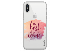 Coque iPhone X The best is yet to come