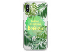 Coque iPhone X Tropical watercolor design Bonheur