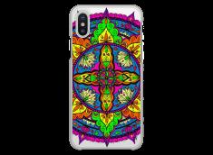 Coque iPhone X Vitrail Mandala