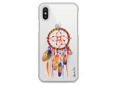 Coque iPhone XR  Blue watercolor dreamcatcher
