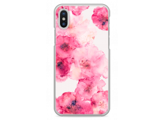 Coque iPhone X Watercolor pink bouquet flowers