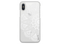 Coque iPhone X White Lace Mandala