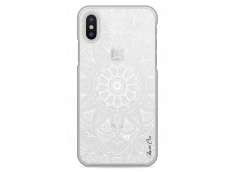 Coque iPhone X White Mandala