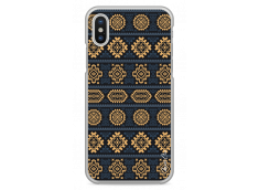Coque iPhone X Blue & Yellow aztec