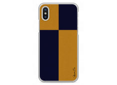 Coque iPhone X Yellow & Blue geometric forms