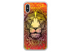 Coque iPhone X Yellow Lion Mandala