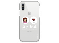 Coque iPhone X You and Wine It's a match