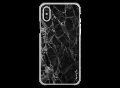 Coque iPhone X Black Marble