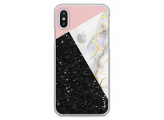 Coque iPhone X Diamond Collage Marble