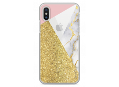 Coque iPhone X Glitter collage and Marble