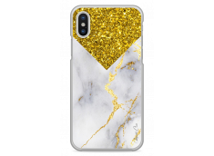 Coque iPhone X Gold Glitter and Marble