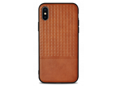 Coque iPhone X Leather Style-Marron