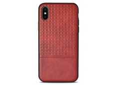 Coque iPhone X Leather Style-Rouge