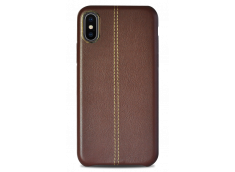 Coque iPhone X Leather Effect -Marron