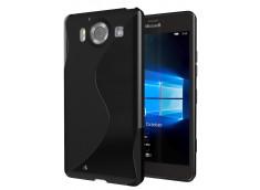 Coque Microsoft Lumia 950 Silicone Grip-Noir