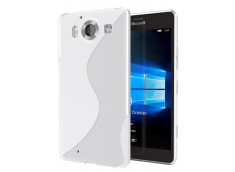 Coque Microsoft Lumia 950 Silicone Grip-Translucide