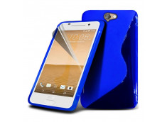 Coque HTC One A9 Silicone Grip-Bleu