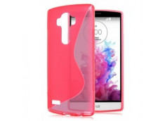 Coque LG G4 Silicone Grip-Rose