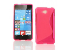 Coque Microsoft Lumia 650 Silicone Grip-Rose