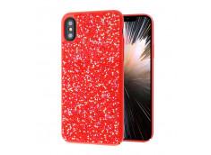Coque iPhone 7/ iPhone 8 Rock Diamond-Rouge