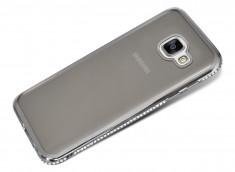 Coque Samsung Galaxy A3 2016 Silver Flex Strass