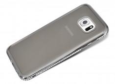 Coque Samsung Galaxy S6 Silver Flex Strass