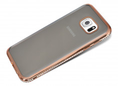 Coque Samsung Galaxy S6 Edge Rose Gold Flex Strass