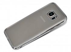Coque Samsung Galaxy S7 Silver Flex Strass