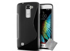 Coque LG K10 Silicone Grip-Noir