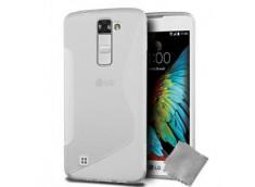 Coque LG K10 Silicone Grip-Translucide