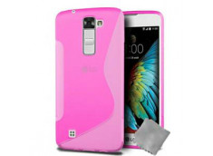 Coque LG K10 Silicone Grip-Rose