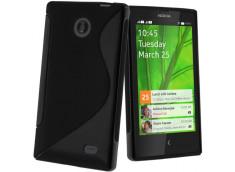 Coque Nokia X Silicone Grip-Noir