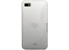 Coque Blackberry Z10 Silicone Grip-Blanc