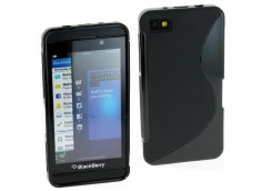 Coque Blackberry Z10 Silicone Grip-Noir