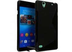 Coque Sony Xperia C4 Silicone Grip-Noir