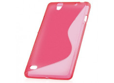 Coque Sony Xperia C4 Silicone Grip-Rose