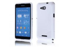 Coque Sony Xperia E4G Silicone Grip-Blanc