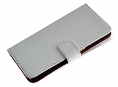 Etui HTC 530 Leather Wallet-Blanc