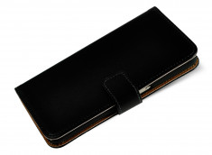 Etui Samsung Galaxy Alpha Leather Wallet-Noir