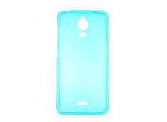 Coque Wiko Wax Silicone Case Bleu