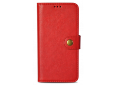 Etui iPhone X + Coque amovible Dual Leather-Rouge