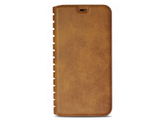 Etui iPhone X Book Flip-Marron