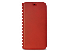 Etui iPhone X Book Flip-Rouge