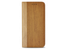 Etui iPhone X Flip Wood-Marron