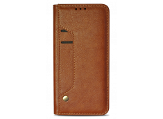 Etui iPhone X Flip Card-Marron