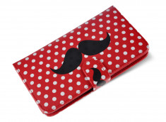 Etui Wiko Darkside Moustache Dots