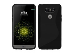 Coque LG G5 Silicone Grip-Noir