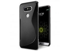 Coque LG V30 Silicone Grip-Noir