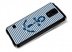 Coque Samsung Galaxy S5 Ancre et Marinière